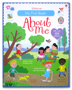 Usborne My First Book About Me with over 100 stickers