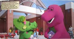 Barney Let's Go to The Library Story Book