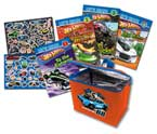 Hot Wheels Lunch Bag Set with 4 Books & Fun Stickers