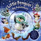 Little Penguin's Big Adventure Storybook with Glittery Snowflakes Globe