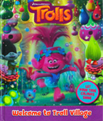 Dreamworks Trolls Welcome to Troll Village Storybook (With lenticular 3d on front cover)