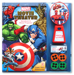 Marvel 3 Super Hero Adventures! Movie Theater Storybook & Movie Projector (20 Images to Project)