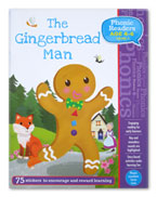 The Gingerbread Man Phonic Readers Level 1 (Age 4-6 years) with 75 stickers