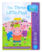 The Three Little Pigs Phonic Readers Level 1 (Age 4-6 years) with 75 stickers
