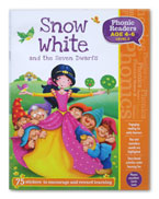 Snow White and the Seven Dwarfs Phonic Readers Level 2 (Age 4-6 years) with 75 stickers