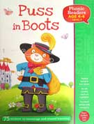 Puss in Boots Phonic Readers Level 3 (Age 4-6 years) with 75 stickers