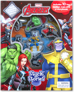 Stuck on Stories Marvel Avengers (With 10 toy suction cups characters and a storybook!)