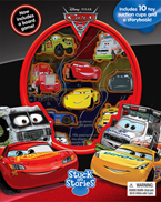 Stuck on Stories Disney Pixar Cars 3 with 10 Disney Suction Cups and a Storybook!