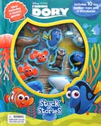 Stuck on Stories Disney Pixar Finding Dory with 10 toy suction cups and a storybook!