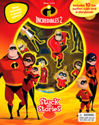 Stuck on Stories Disney Pixar Incredibles 2 (10 toy suction cups and a storybook!)