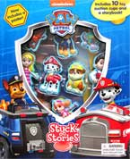 Stuck on Stories Paw Patrol (10 toy suction cups and a storybook!)