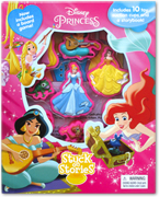 Stuck on Stories Disney Princess (With 10 toy suction cups and a storybook!)