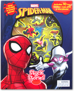 Stuck on Stories Marvel Spider-Man (With 10 toy suction cups and a storybook!)