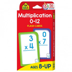School Zone Multiplication 0-12 Flash Cards (56 Cards) (SALE!!)