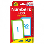 School Zone Numbers 1-100 Flash Cards (56 Cards)