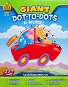 School Zone Giant Dot-to-Dots & More! Workbook (Ages 4-6)