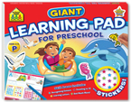 School Zone Giant Learning Pad: For Preschool Over 70+ Reward Stickers (Ages 3-5)