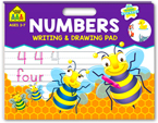 School Zone Writing and Drawing Pad: Numbers Over 70+ Reward Stickers (Ages 3-7)