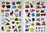 School Zone Alphabet Stickers Book P-K (Ages 3-6)