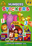 School Zone Numbers Sticker Book P-K (Ages 3-6)