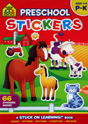 School Zone Preschool Sticker Book P-K (Ages 3-6)