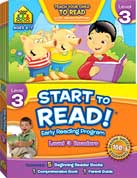 School Zone Start to Read! Level 3 Readers - Early Reading Program (Contents 5 Beginning Reader Books, 1 Comprehension Book, 1 Parent Guide) Age 6-7y
