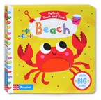 My First Touch and Find Beach Board Book With Big Flaps