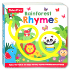 Fisher Price - Rainforest Rhymes Board Book (Follow the trail as you enjoy nursery rhymes with the animal friends)