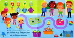Follow Me At Nursery Board Book - Trace The Trails with Your Finger to Join in the Story