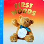 First Words Board Book (with touch & feel texture on front cover)