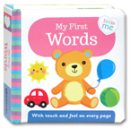 Little Me - My First Words Board Book (With touch and feel on every page)