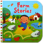 Farm Stories - Follow the Finger Trails Board Book with touch & feel texture and flaps to lift