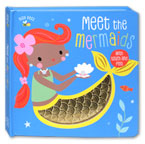 Busy Bees Meet the Mermaids Board Book with Touch and Feel