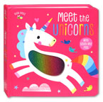 Busy Bees Meet the Unicorns Board Book with Touch and Feel