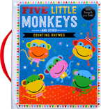 Five Little Monkeys and other Counting Rhymes Board Book with touch and feel textures