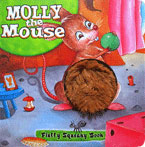 (SALE!!) Molly the Mouse - Touch & Feel Fluffy Squeaky Board Book