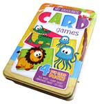 My Favourite Card Games Tin Box (4 Fun Card Packs: Old Maid, Fairy Snap, Dinosaur Snap, Go Fish)
