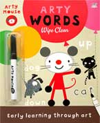 Arty Mouse Words Wipe Clean Book with wipe-clean marker