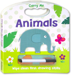 Carry Me Wipe Clean: Animals Board Book