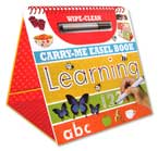 Wipe Clean Carry Me Easel Book Learning (includes pen)
