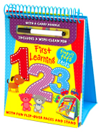 Tiny Tots Easel First Learning 123 Wipe Clean (includes a wipe-clean pen)