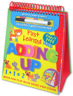 Tiny Tots Easel First Learning Adding Up Wipe Clean (includes a wipe-clean pen)