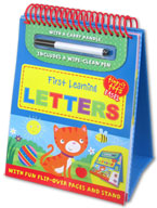 Tiny Tots Easel First Learning Letters Wipe Clean (includes a wipe-clean pen)