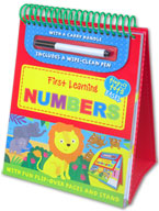 Tiny Tots Easel First Learning Numbers Wipe Clean (includes a wipe-clean pen)