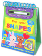 Tiny Tots Easel First Learning Shapes Wipe Clean (includes a wipe-clean pen)