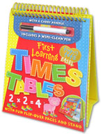 Tiny Tots Easel First Learning Times Tables Wipe Clean (includes a wipe-clean pen)
