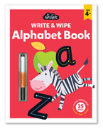 Junior Explorers Write & Wipe Alphabet Book (Age 4+)