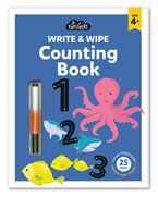 Junior Explorers Write & Wipe Counting Book (Age 4+)
