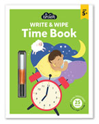 Junior Explorers Write & Wipe Time Book (Age 4+)