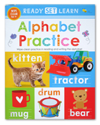 Ready Set Learn ALPHABET PRACTICE Wipe Clean Book